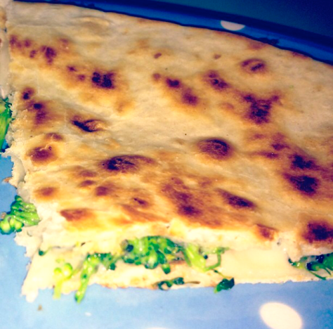 Broccoli & Cheese Quesadilla
